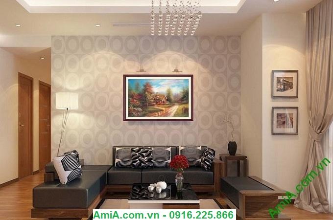 Hình ảnh Tranh phong cảnh đẹp ngôi nhà nhỏ ở châu âu amia 775