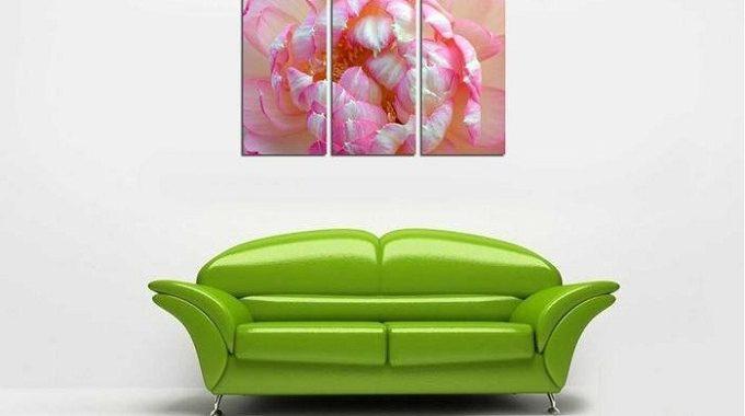 Hình ảnh Tranh trang trí hiện đại bông hoa sen treo phòng khách