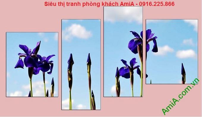 Mẫu thiết kế Tranh trang trí hoa lá ghép bộ