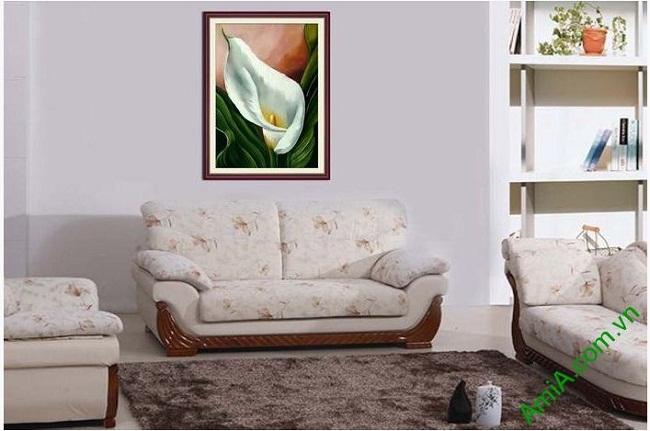 Mẫu Tranh trang trí nghệ thuật hoa Zum độc đáo