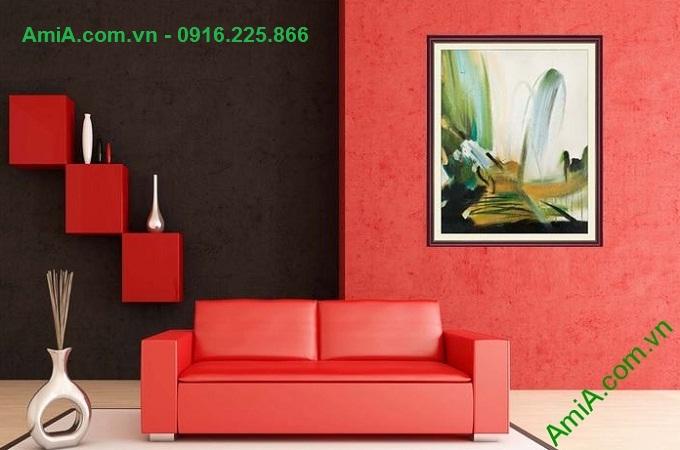 Hình ảnh Tranh trang trí nghệ thuật trừu tượng treo phòng khách hiện đại