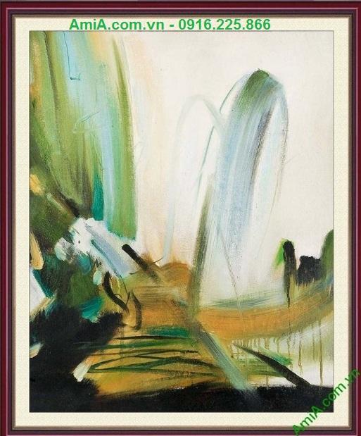 Hình ảnh Tranh trang trí nghệ thuật trừu tượng treo phòng khách