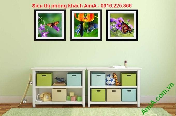 Hình ảnh mẫu tranh trang trí nội thất đẹp phòng trẻ em hoa bướm