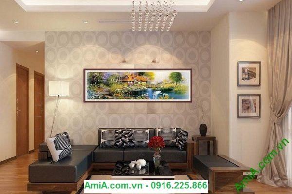 Hình ảnh Tranh trang trí nội thất phòng khách ngôi nhà châu âu