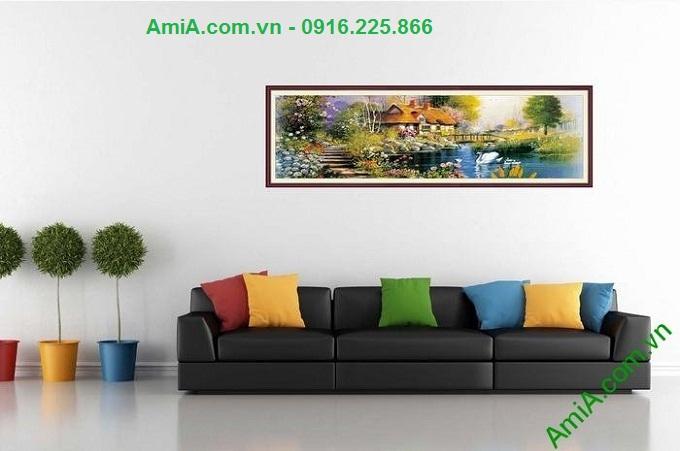 Hình ảnh Tranh trang trí nội thất phòng khách ngôi nhà đẹp