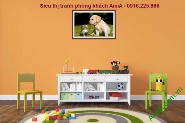 Tranh trang trí phòng trẻ em một tấm khổ nhỏ