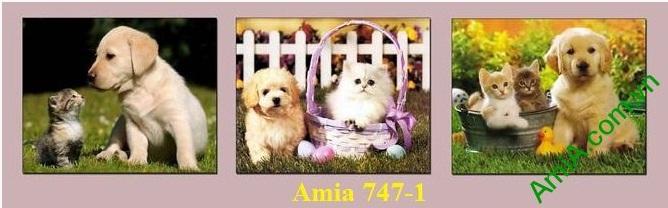 Hình ảnh mẫu Tranh trang trí cún mèo làm đẹp phòng trẻ nhỏ