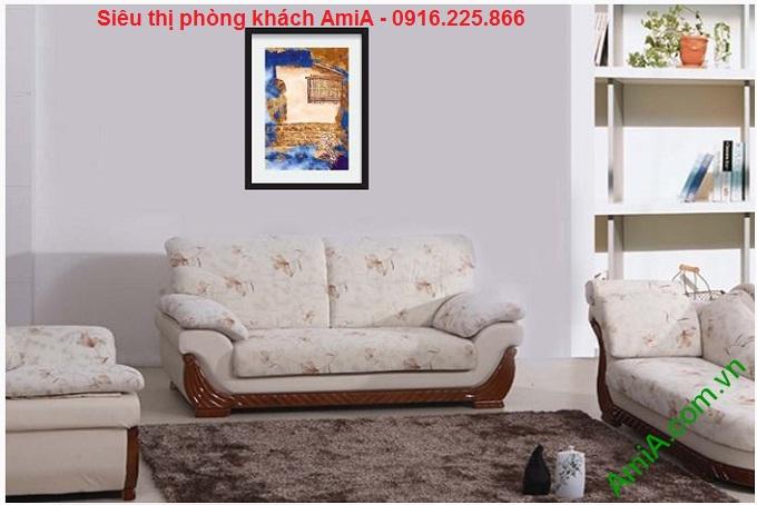Mẫu Tranh trang trí trừu tượng treo phòng khách đẹp