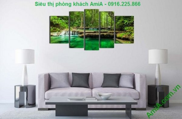 Hình ảnh Tranh treo phòng khách khổ lớn rừng cây