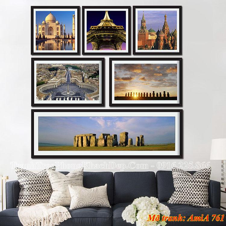 Tranh khung treo tường phong cảnh nước ngoài AmiA 761