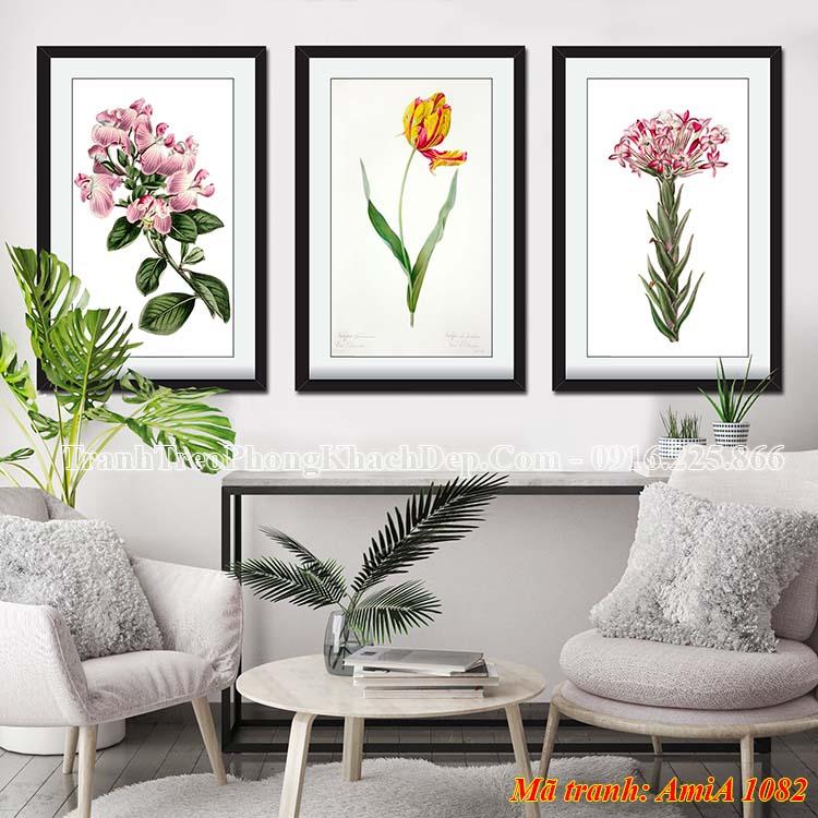 Bộ khung tranh treo phòng khách đẹp AmiA 1082