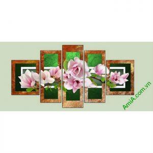 tranh hoa moc lan dep cho phong khach