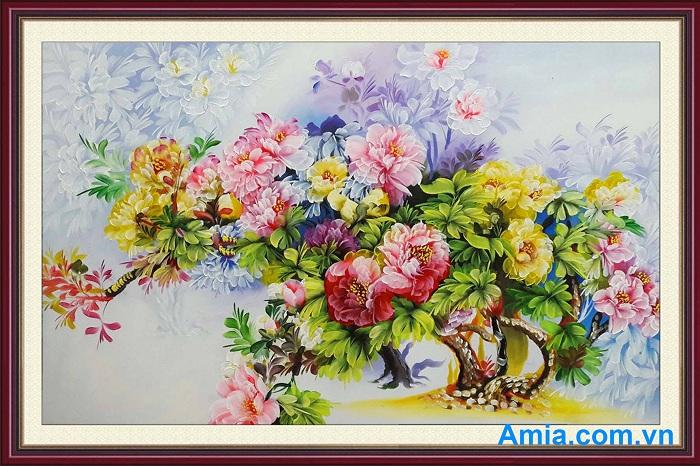 mua tranh son dau hoa mau don tai ha noi