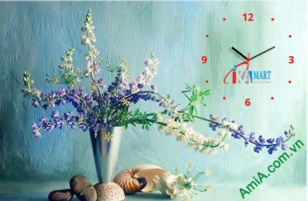 Hinh anh tranh dong ho trang tri lich tet binh hoa AmiA tL07
