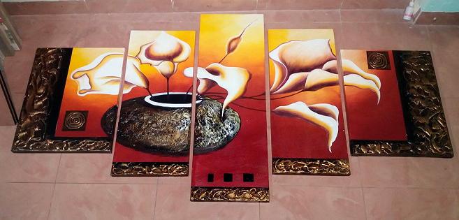 tranh son dau binh hoa rum y nghia