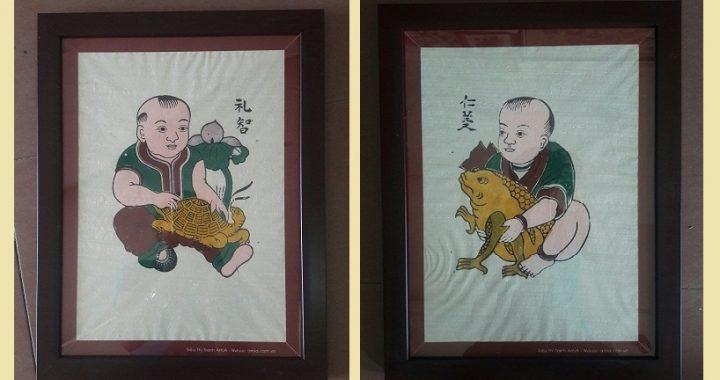 Hinh anh tranh Tet dan gian Dong ho tại AmiA Ha Noi