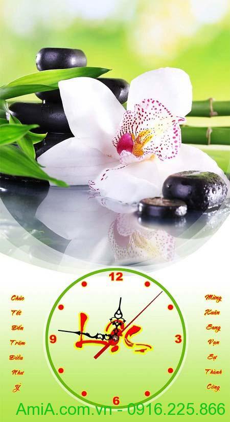 Hinh anh dong ho tranh lich tet hoa phong lan tao su thu thai