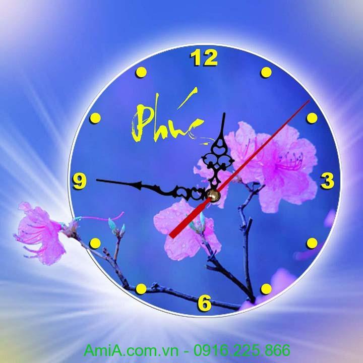 Hinh anh dong ho trang tri hoa mai AmiA Dh32