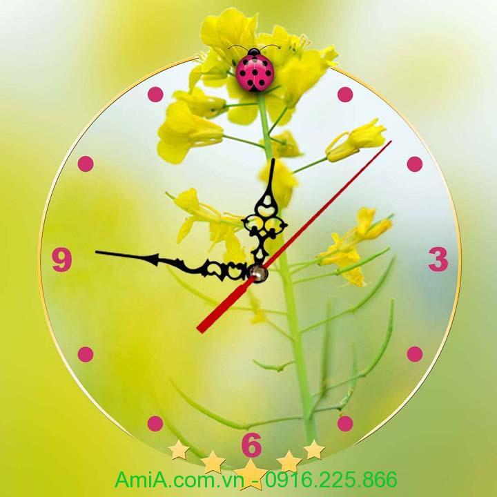 Hinh anh tranh trang tri dong ho hoa vang AmiA Dh34