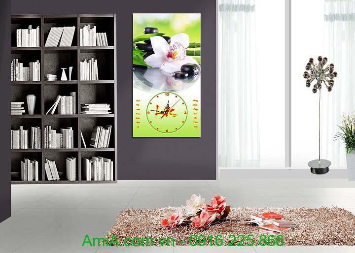 Hinh anh tranh hoa phong lan lam qua tang tranh lich tet