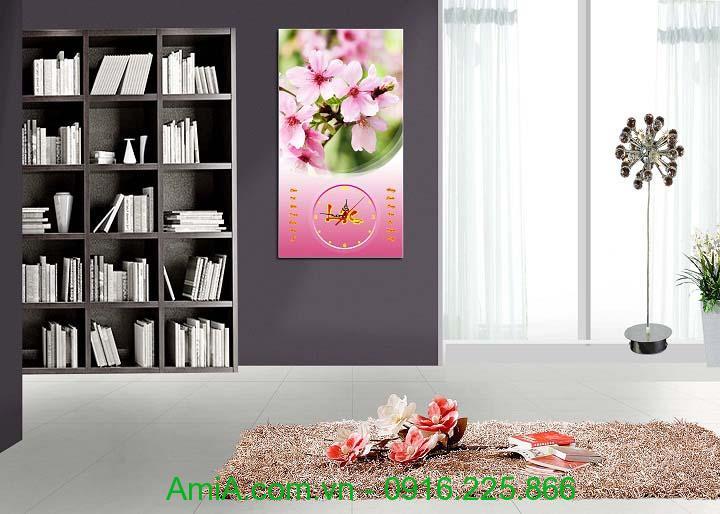 Hinh anh tranh lich tet hoa dao mua Xuan AmiA