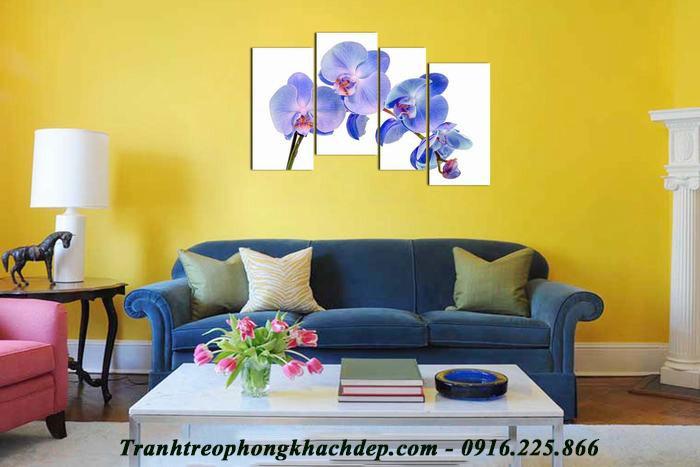 Hinh anh tranh hoa lan ho diep xanh AmiA 957