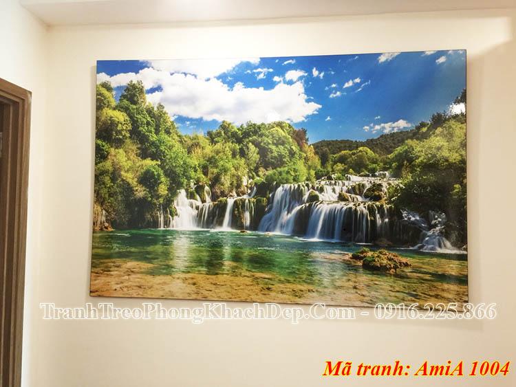 Tranh treo phòng khách đẹp AmiA 1004 thác nước bản giốc