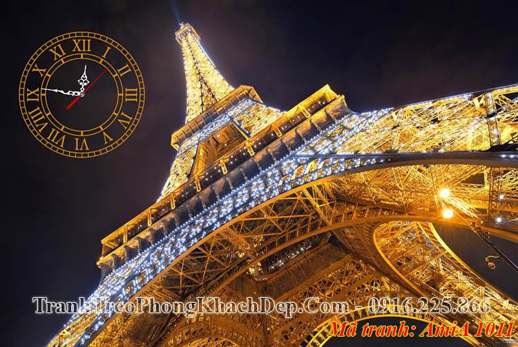 Tranh khổ lớn AmiA 1011 tháp Eiffel