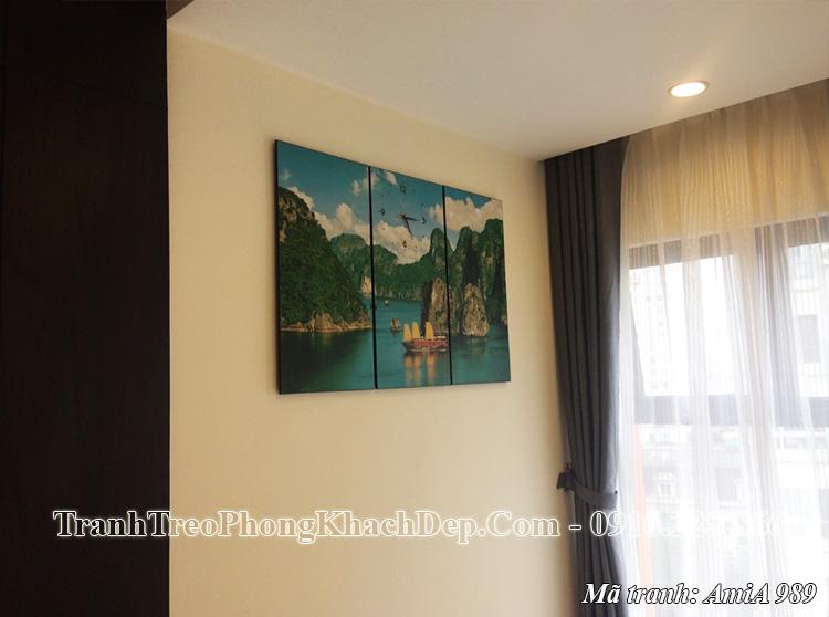 Tranh treo phòng khách chung cư hiện đại AmiA 989