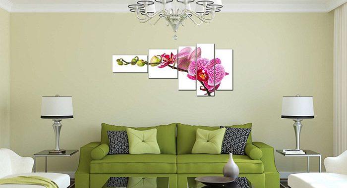 Hinh anh tranh hoa lan trang tri nha hang khach san AmiA 1032