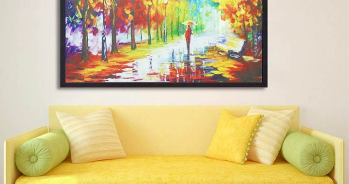 Hinh anh 5 mau tranh canvas dep phong canh mua thu