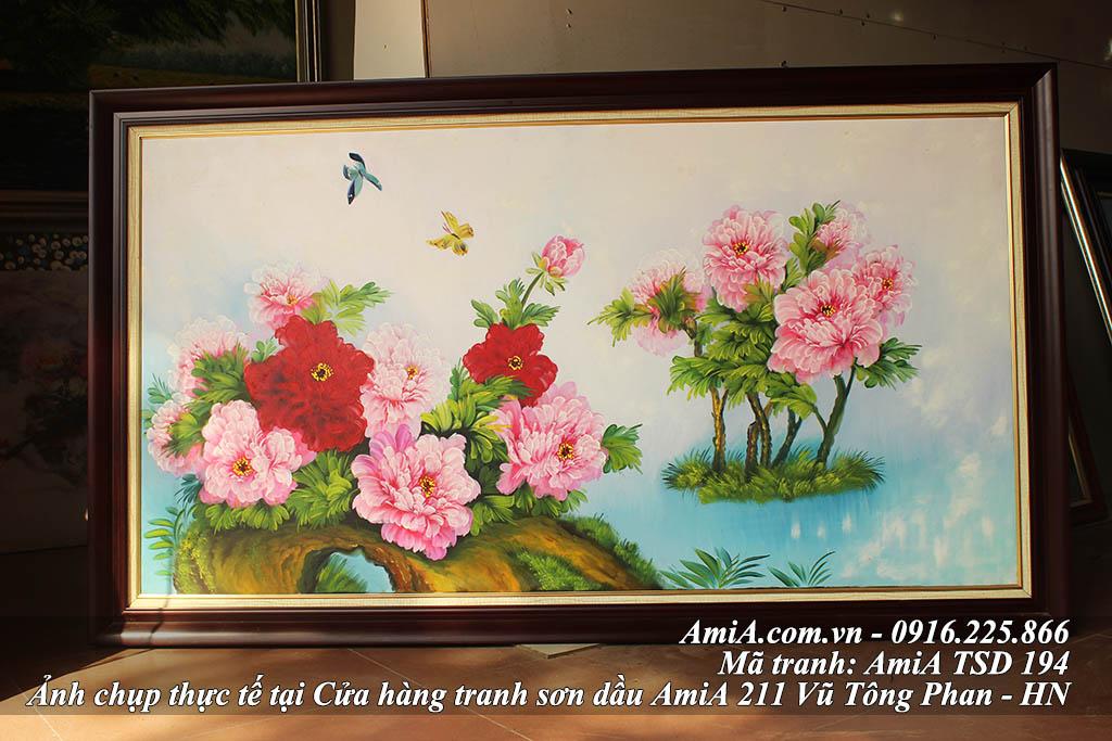 Tranh dep treo tuong ve hoa mau don phong thuy