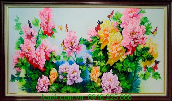 tranh hoa mau don tinh duyen