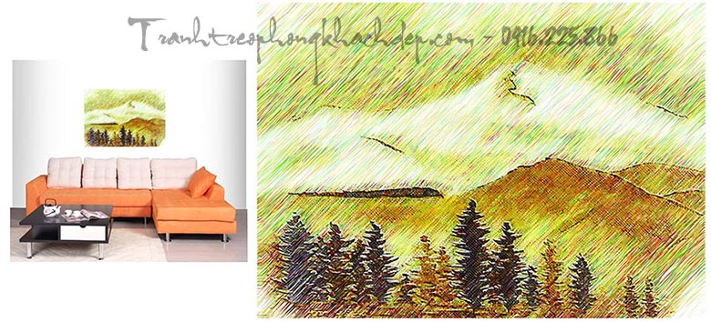 Hinh anh tranh canvas dep phong canh nui non AmiA