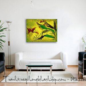 Hinh anh tranh canvas truu tuong treo tuong phong khach goc hoa ly