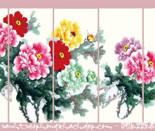 Hinh anh tranh ghep bo canvas hoa mau don amiA