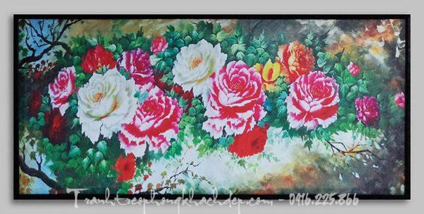 Hinh anh tranh hoa mau don canvas kho lon AmiA