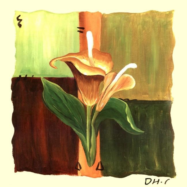 Hinh anh mau tranh canvas treo phong khach dep hoa Rum AmiA