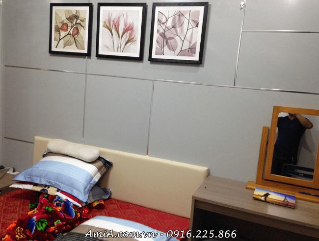Bo khung tranh hoa la xray treo tuong phong ngu chung cu AmiA 1139