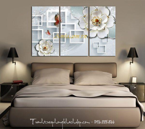tranh hoa va buom in 3 d dep mat