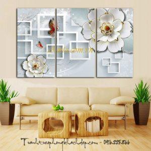 tranh hoa buom in 3d dac sac