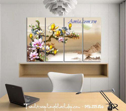 tranh hoa moc lan in 3d