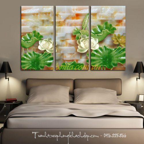 tranh hoa sen dep in 3d