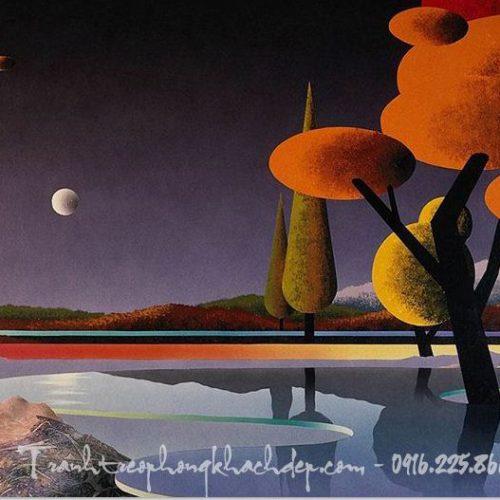 Tranh canvas cảnh không gian trừu tượng AmiA 4188