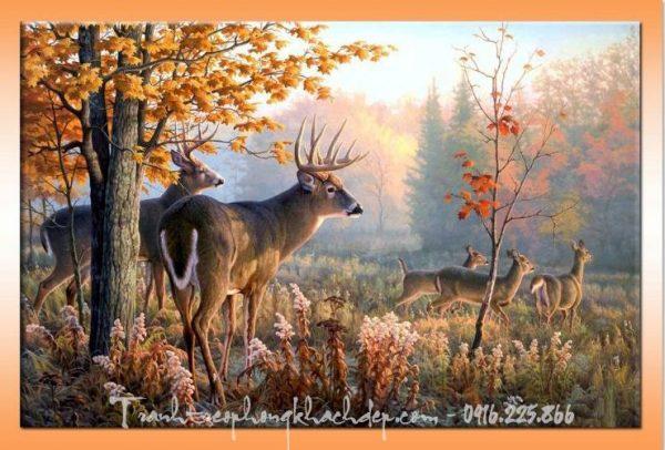Hinh anh tranh canvas khu rung nai AmiA 4192