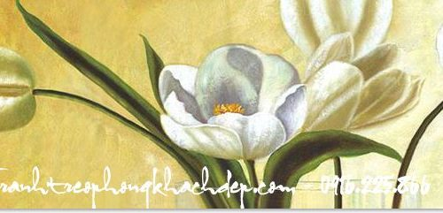 Hinh anh tranh canvas nghe thuat hoa tulip AmiA