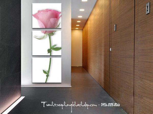 tranh hoa hong tinh yeu treo phong khach
