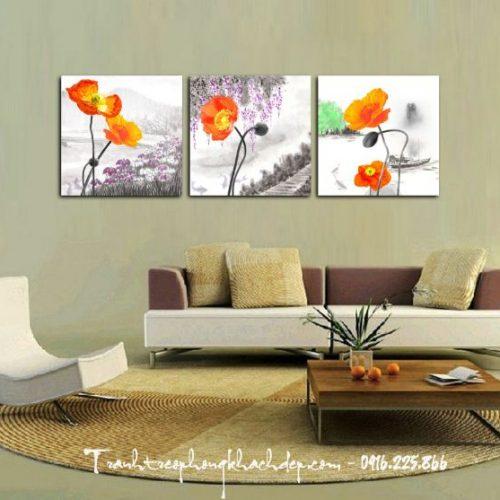 tranh in 3d hoa popy
