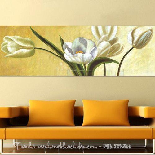 Tranh hoa tulip nghệ thuật trang trí phòng khách đẹp