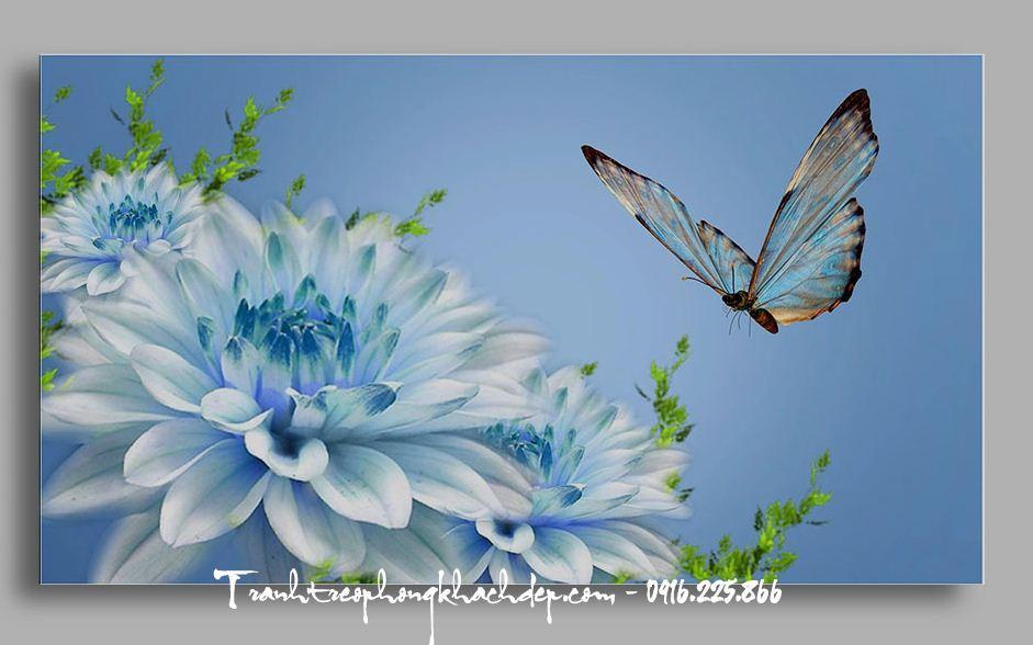 Tranh treo phong khach hoa thuoc duoc